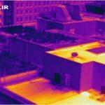 Se comparó las temperaturas en un techo verde con un edificio vecino.