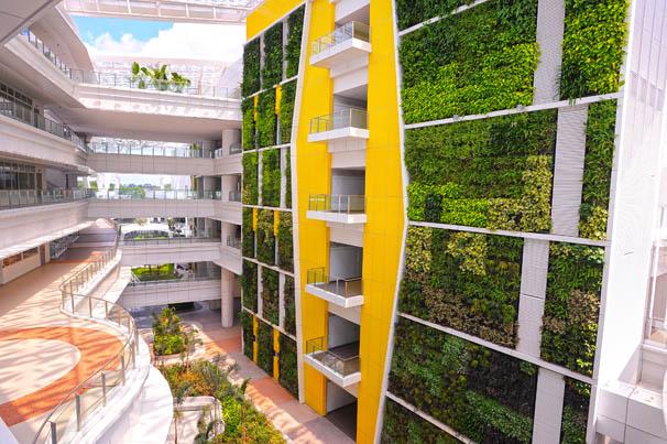 jardines verticales de 35 metros de altura en singapore