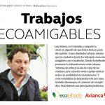 (trabajos ecoamigables – Revista Avianca) Ecotelhado presente en articulo