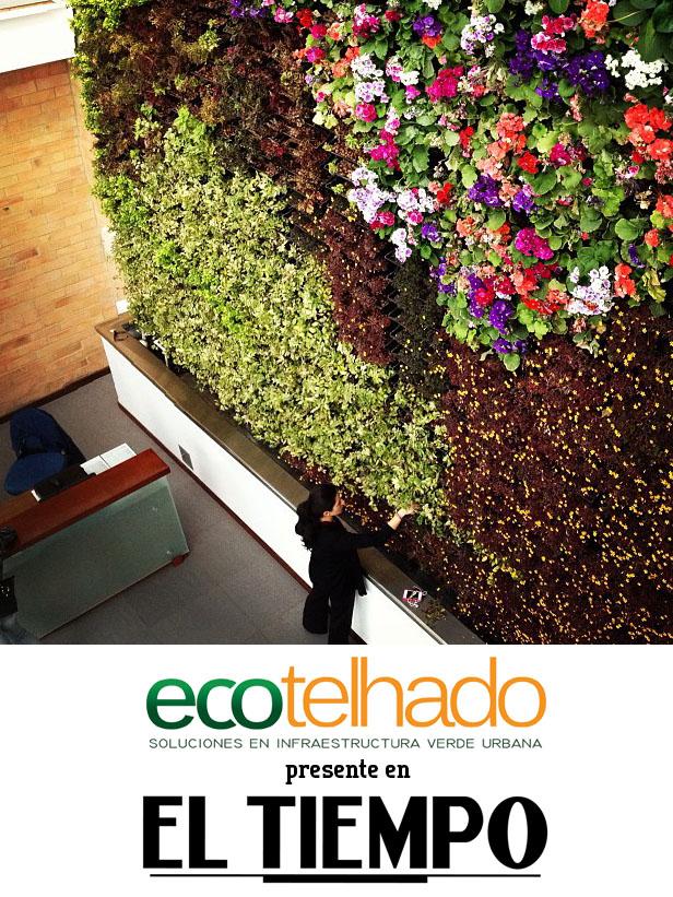 Una pared verde se puede emplear también para tener una pequeña huerta casera.