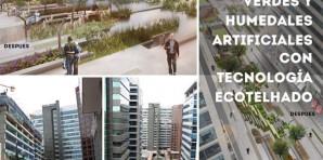 Cubiertas verdes y humedales artificiales con tecnología Ecotelhado en Bogotá