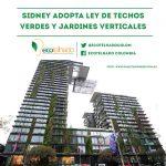 Reverdecimiento en Sidney: Primera ley de techos verdes y jardines verticales