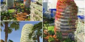 Las torres ajardinadas de gardens of anfa
