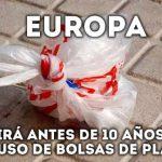 Europa reducirá bolsas plasticas